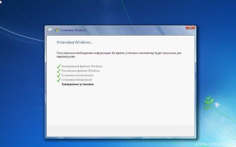 Завершение установки операционной системы