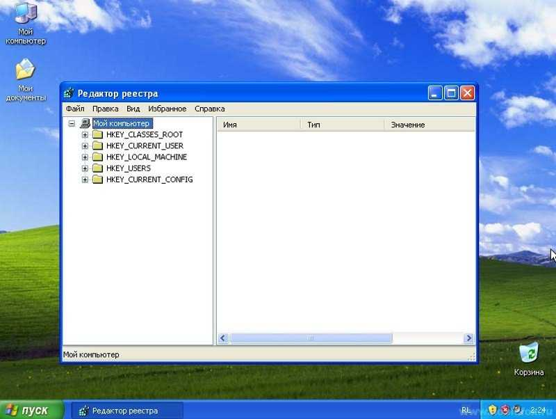 Реестр в Windows XP