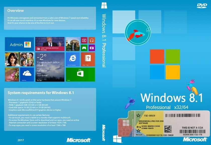 Windows 8. 1 single language with update x64 (oem) (2014) [русский.