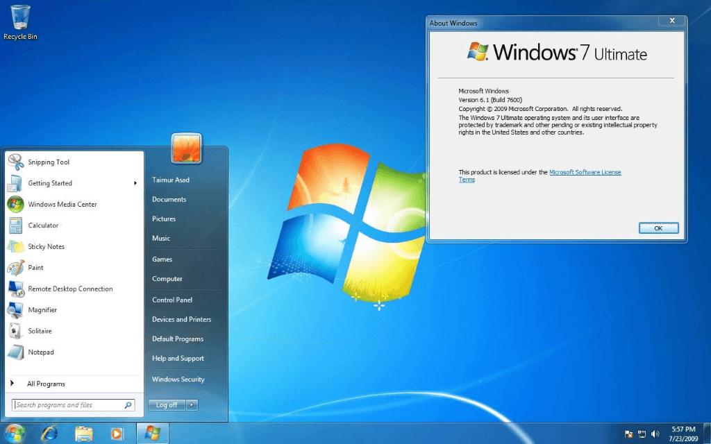 retélécharger windows 7