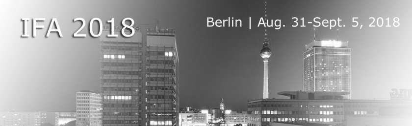 На выставке IFA 2018 в Берлине