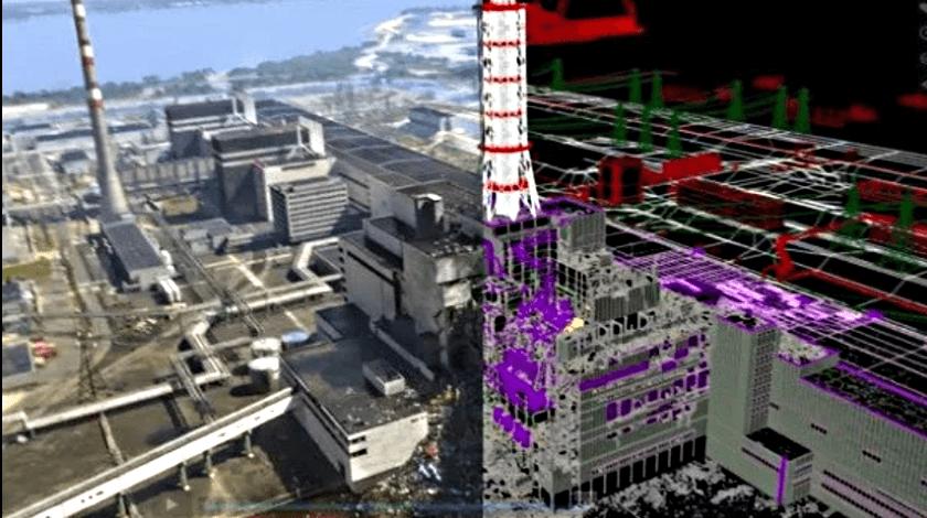 Цифровая модель Чернобыльской АЭС