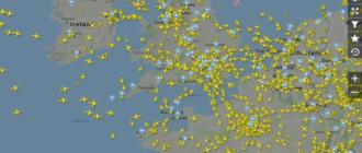 Flightradar24 Воздушный трафик по всему миру
